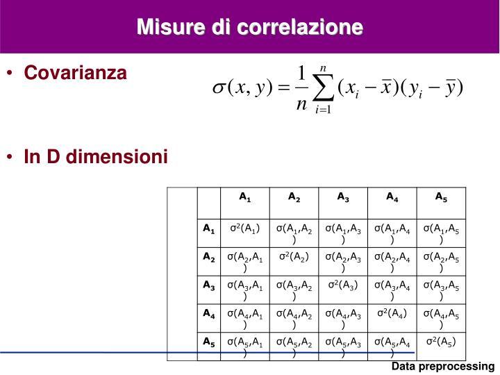 Misure di correlazione