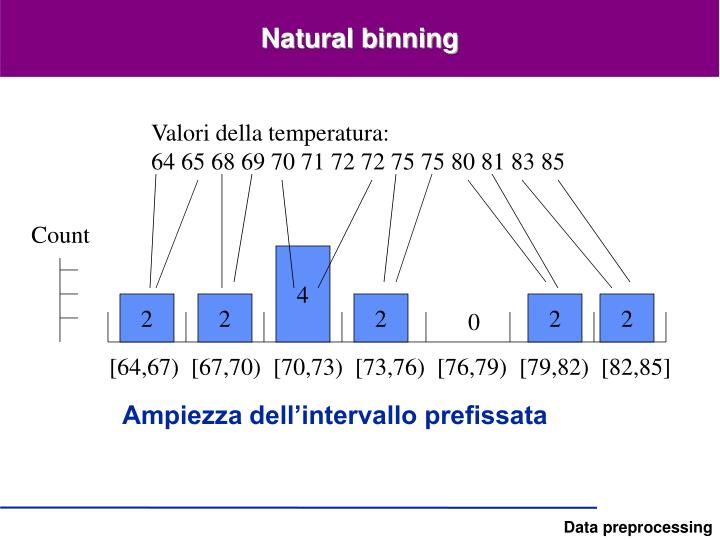 Natural binning