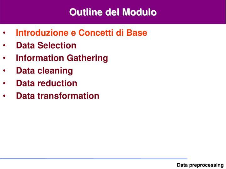 Outline del modulo1