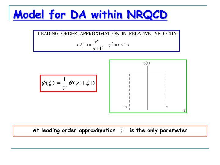 Model for DA within NRQCD