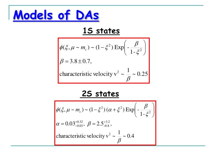 Models of DAs