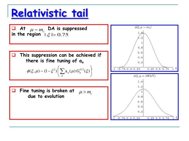 Relativistic tail