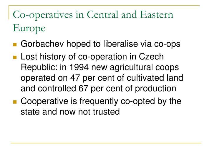 Co-operatives in Central and Eastern Europe