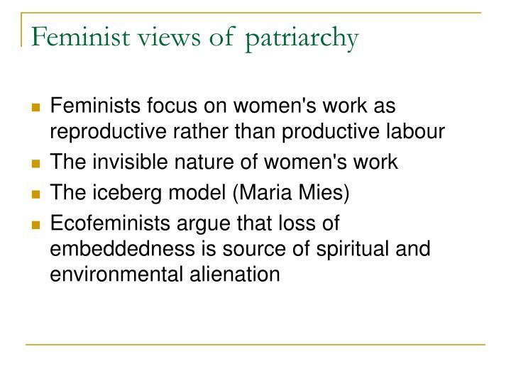 Feminist views of patriarchy