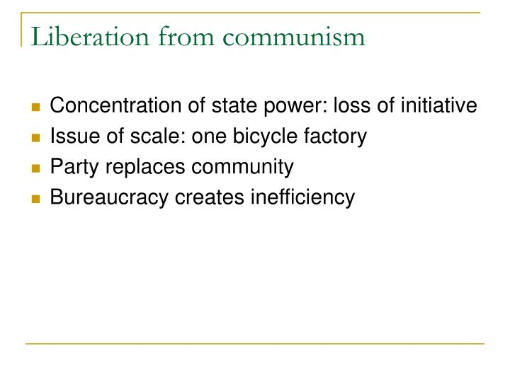 Liberation from communism