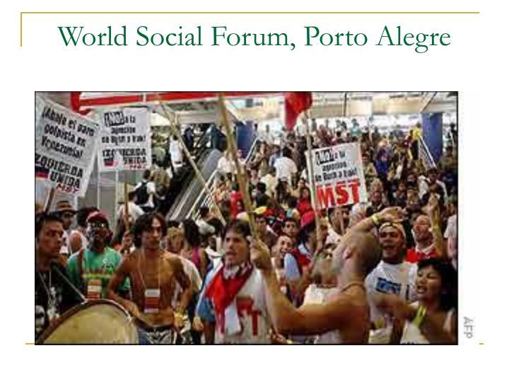 World social forum porto alegre