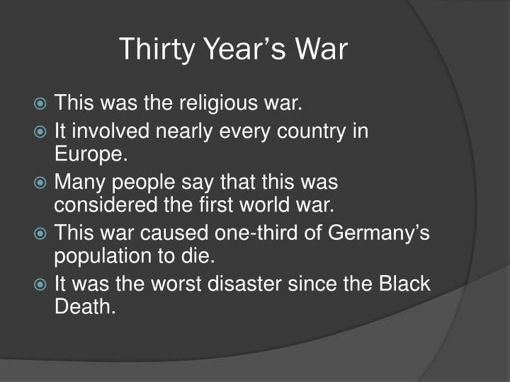 Thirty Year's War