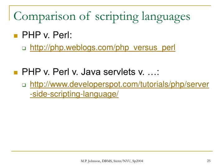 Comparison of scripting languages