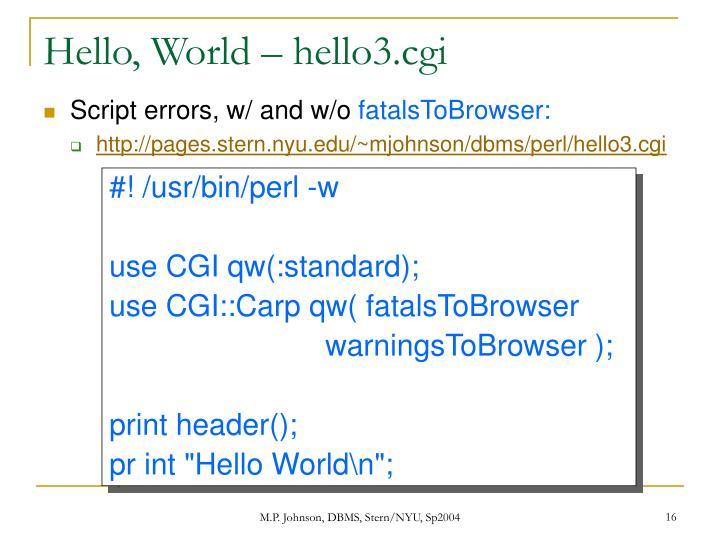 Hello, World – hello3.cgi