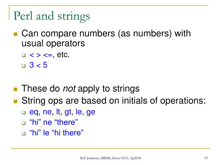 Perl and strings