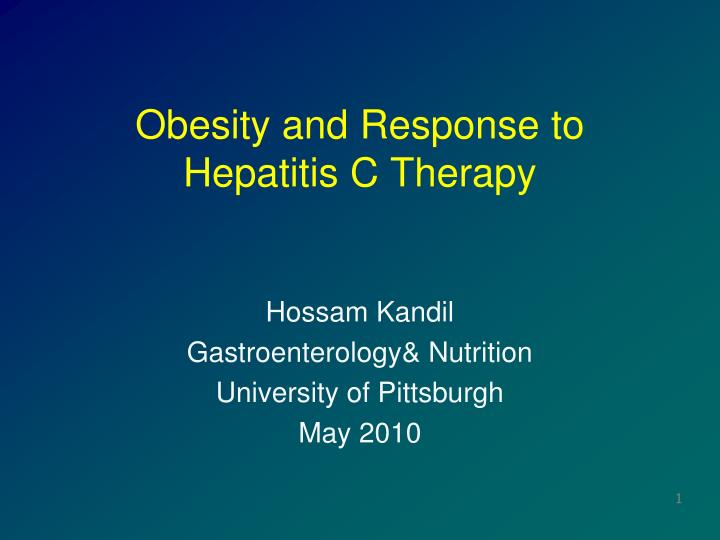 obesity and response to hepatitis c therapy n.