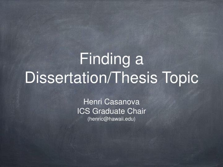 Dissertation thesis download