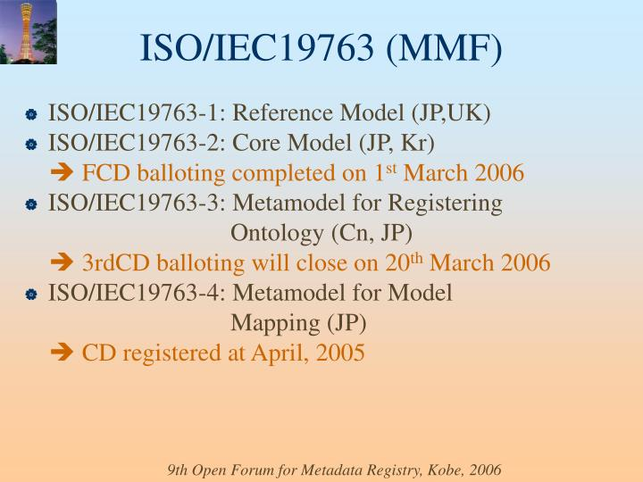 ISO/IEC19763-1: Reference Model (JP,UK)