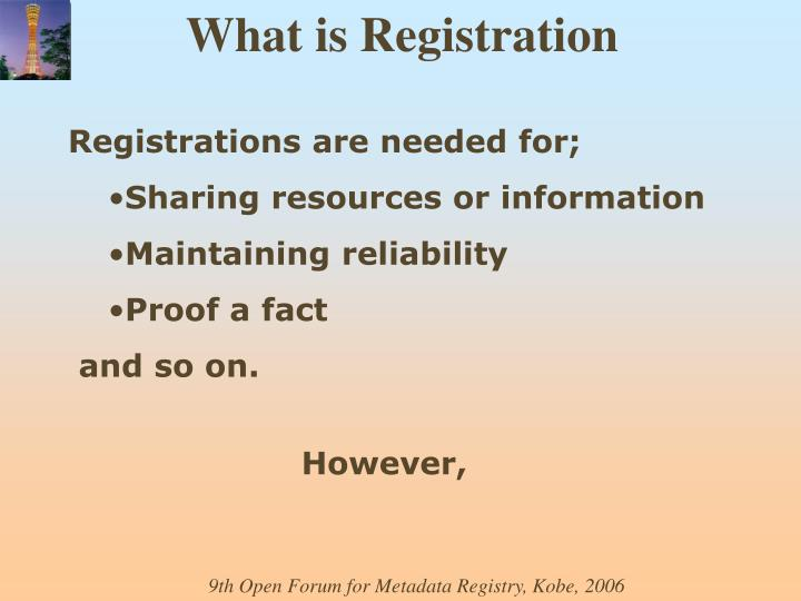 What is Registration