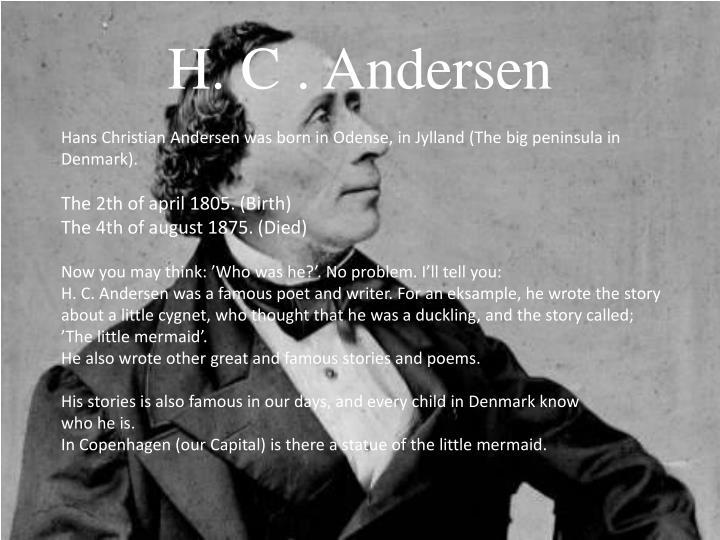 Ppt H C Andersen Powerpoint Presentation Id 5114118