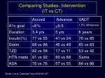 comparing studies intervention it vs ct