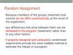 random assignment1