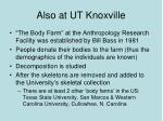 also at ut knoxville
