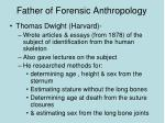 father of forensic anthropology