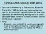 forensic anthropology data bank