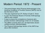 modern period 1972 present