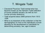 t wingate todd