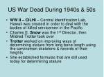 us war dead during 1940s 50s