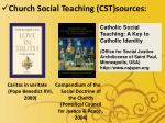 church social teaching cst sources