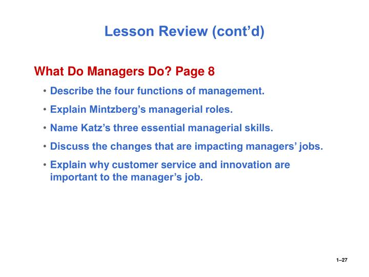 describe the three management skills as