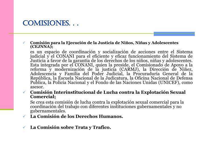 Comisiones. . .