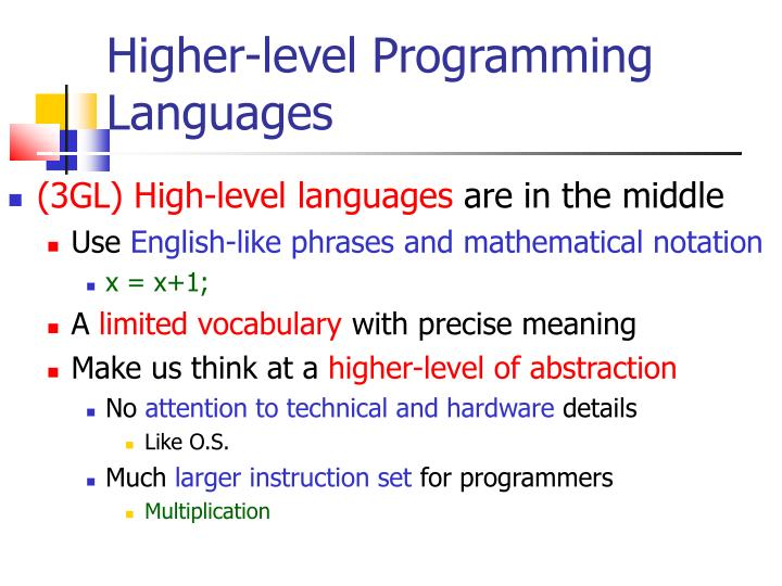 Higher-level Programming Languages