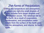the forms of precipitation