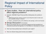 regional impact of international policy