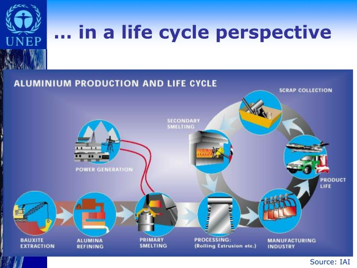 … in a life cycle perspective