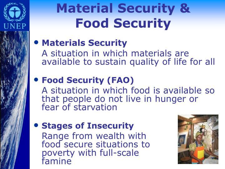 Material Security &