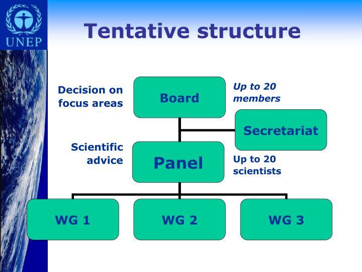 Tentative structure