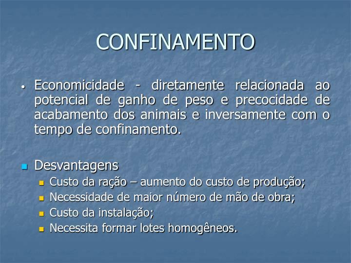 CONFINAMENTO