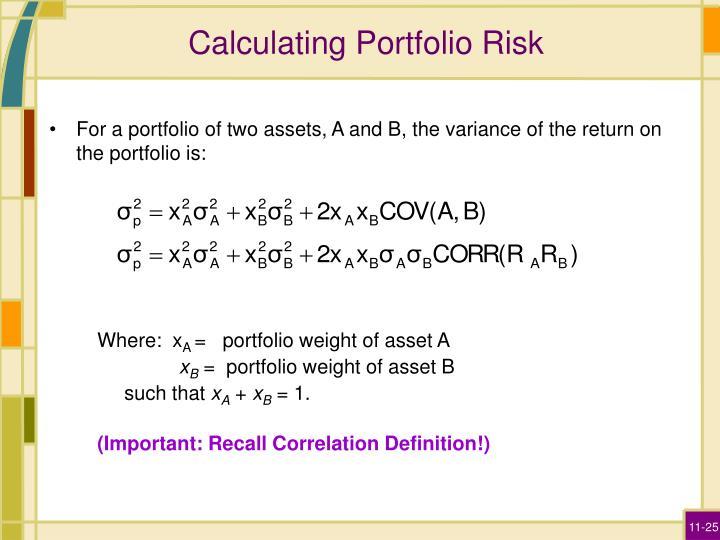 Calculating Portfolio Risk