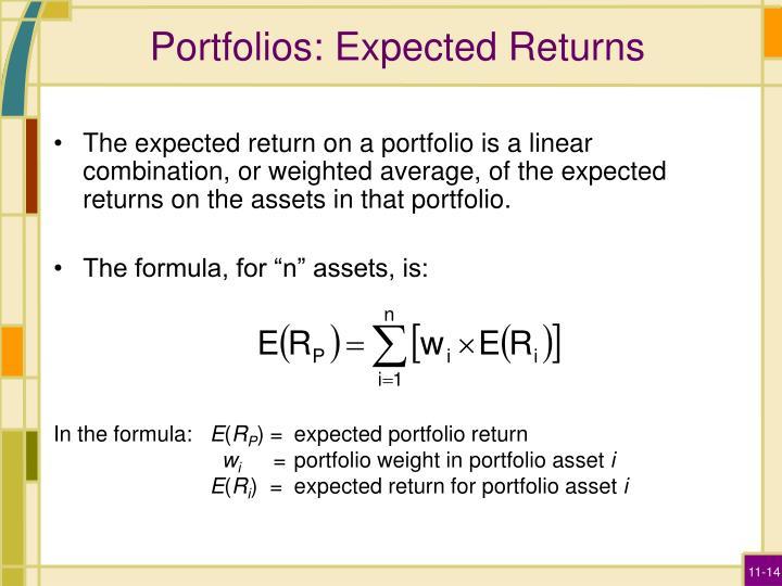 Portfolios: Expected Returns