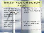 television hours and electricity prices