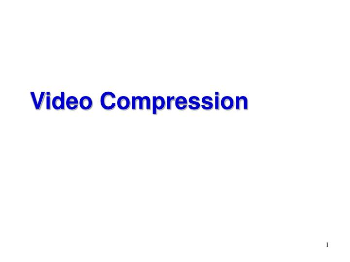 video compression n.