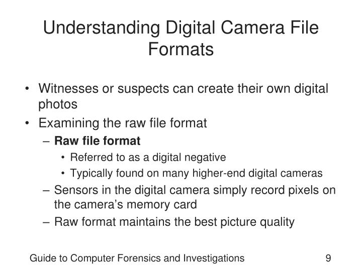 Understanding Digital Camera File Formats