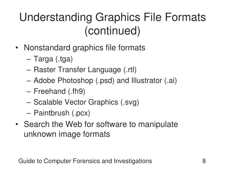 Understanding Graphics File Formats (continued)