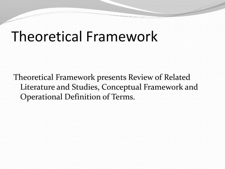 writing a theoretical framework