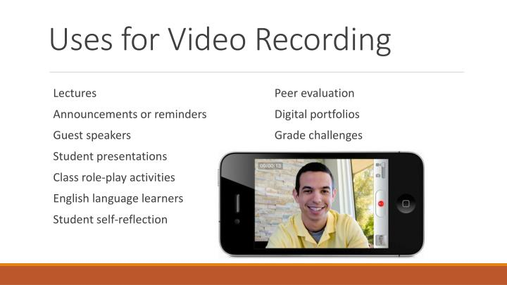 Uses for Video Recording