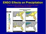 enso effects on precipitation