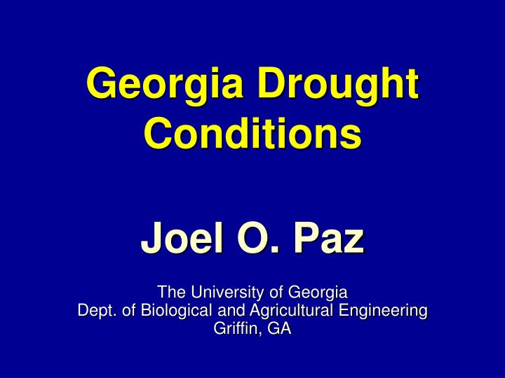 georgia drought conditions