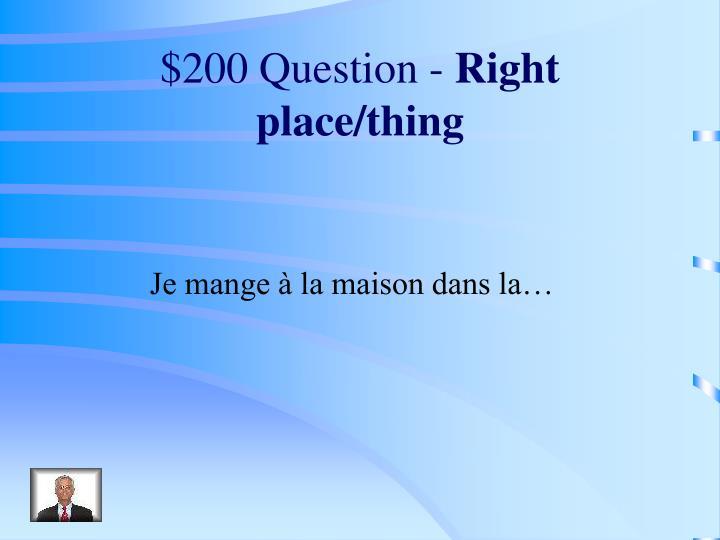 $200 Question -