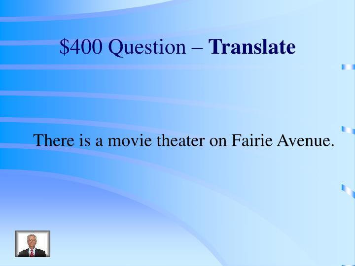 $400 Question –