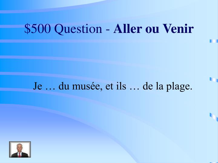 $500 Question -